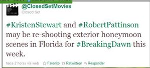 ClosedSetMovies tweets abt doing BD reshoots in Florida 1