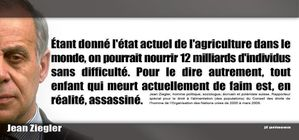 Jean Ziegler faim assassinat