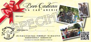 Bon cadeau SPECIMEN