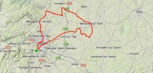 Parcours NE Dijon Quintet en plaine