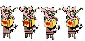 N-¦4 cochon lecteur frise-copie-1
