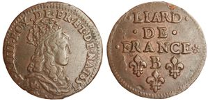 Liard Louis XIV 1657 B-copie-1