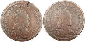 Liard Louis XIV double avers 1657-1657 B-copie-1