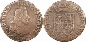 Liard Charles de Gonzague 1614 - B