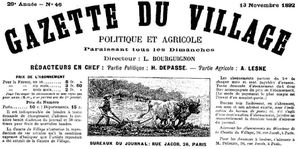 gazette du village