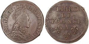 Liard Louis XIV 1655 A-copie-1