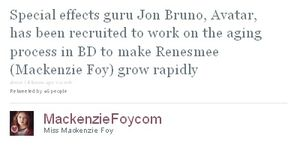 Breaking Dawn - Tweet abt Jon Bruno recruiting for special
