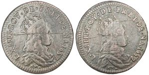 Liard Louis XIV double avers 1657-1657 B 2