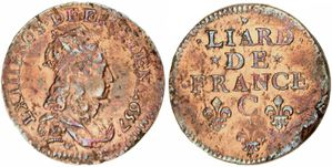 Liard Louis XIV 1657 C-copie-1