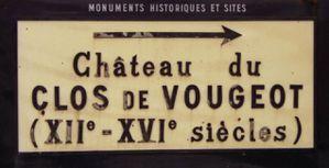 Vin - Bourgogne - Clos de Vougeot - Panneau - 6.1987