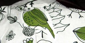 chemise jolies tenues japan, 2 ans, oiseaux, detail dos