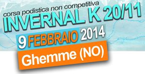 Invernal K 20/11 2014. Domenica 9 febbraio, a Ghemme: un test ideale in vista di appuntamenti podistici di inizio primavera