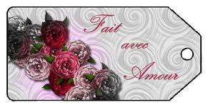 tag fleur fait avec amour