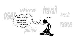 dessin tract travailler moins