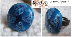 Terre turquoise bague