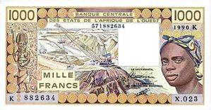 Franc CFA billet 3