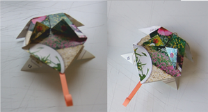 Origami Grenouille double