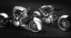 racing and original bulb motorcycle concept
