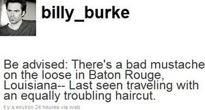 billy burke tweets about arriving in baton rouge