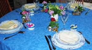 Fetes le blog de ladylafee - Decoration de table pour communion garcon ...