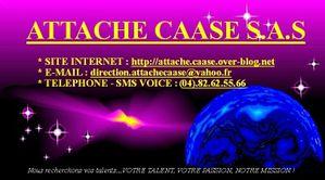 CARTE DE VISITE (ATTACHE CAASE)