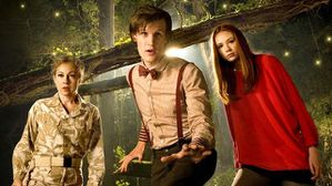 Alex Kingston (River Song), Matt Smith (The 11th Doctor), Karen Gillan (Amy Pond)
