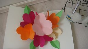CARTE FLEURS POP UP