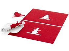 set de table noel rond de serviette publicitaire cadeau