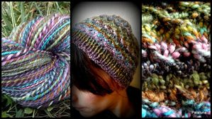 Gin tonic hat 2 ply mérinos-soie tweed1