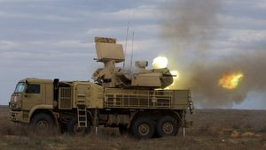 Pantsyr short-range gun-missile air defense system