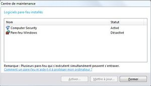 pare feux windows 7