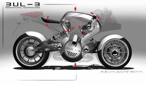 profil droite bulb-b concept autonome électric motorcycle