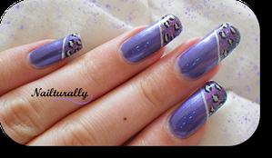 leopard violet nailturally
