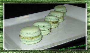 macarons pistaches