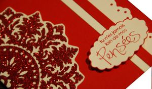 carte saint valentin detail