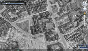 Varsovie - Google Earth - 12-1945 - Centre - Détail