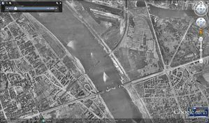 Varsovie - Google Earth - 12-1945 - Zone stade