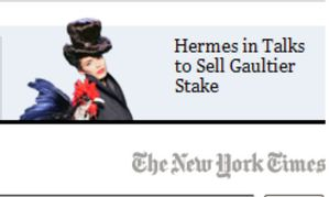 Hermes in Talks to Sell Stake in Jean-Paul Gaultier Company