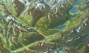 La vallée de St Moritz