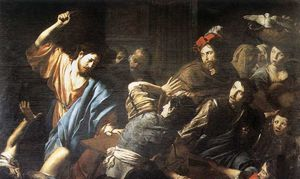 17 VALENTIN DE BOULOGNE MERCHANTS IN TEMPLE