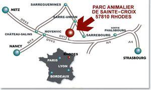 Parc de Ste Croix plan accès