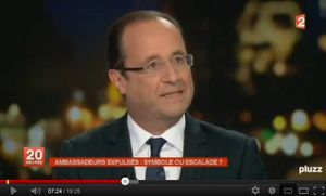 29 mai 2012-Interview F Hollande sur Syrie- Capture