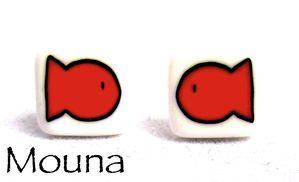 Boucles puces Comme un poisson dans l'eau 6 orange DISPONIBLE: 8 euros.