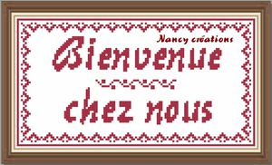 Welcome to my home nancy cr ations for Gagnant de bienvenue chez nous