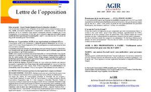 AGIR la lettre de l'opposition mai 2010