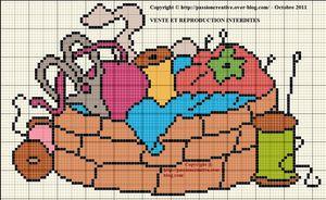 Panier à ouvrage - couture - tricot 4