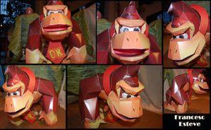 Donkey Kong papercraft by Francesc Esteve