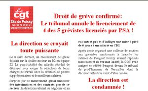 Image Tract CGT Annulation licenciement Poissy