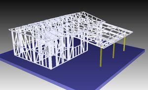 Kit f3 pm 3 350 000f ht ossature m tallique dock du for Kit maison metallique
