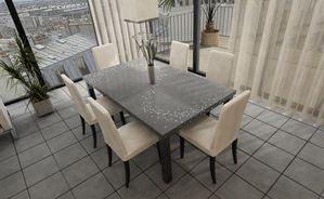 Table salle à manger en beton et fibre optique